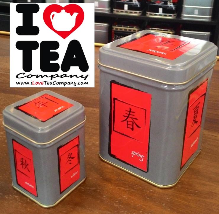 Latas para conservar muy bien el té, rooibos o cualquier otra infusión a la vez que decoramos la casa. Lata de 100 gramos 3,50€ (vacía Ref. LataEstaciones) y lata de 20-30 gramos llena de té a elegir por 3€ (ref. MiniLataEstaciones).